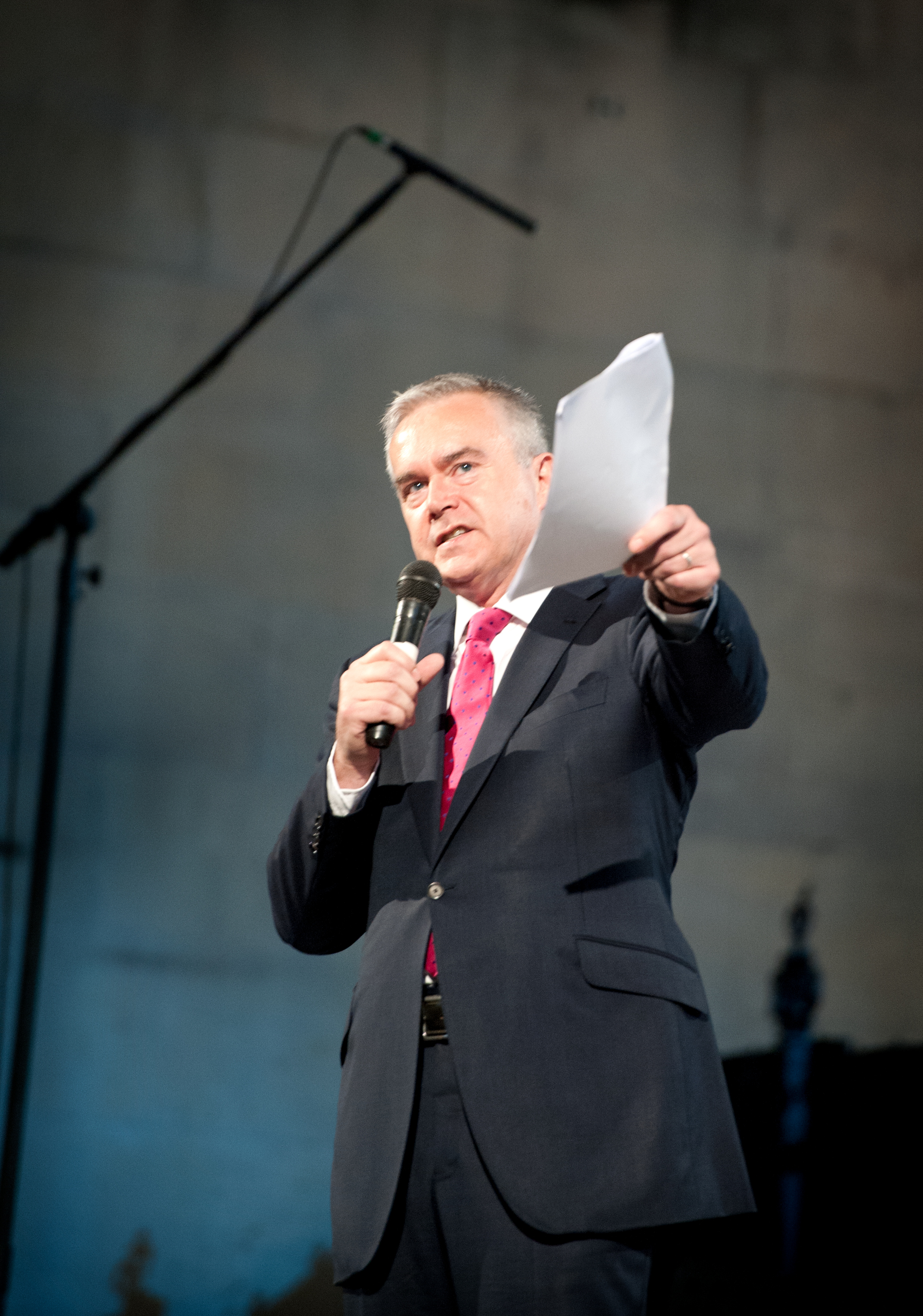 Host Huw Edwards
